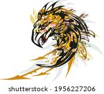 splattered eagle symbol with... | Shutterstock .eps vector #1956227206