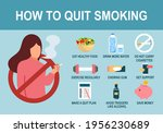 how to quit smoking infographic ... | Shutterstock .eps vector #1956230689