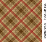 red and brown argyle plaid.... | Shutterstock .eps vector #1956235156