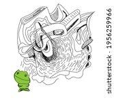 unusual abstract illustration...   Shutterstock .eps vector #1956259966