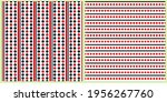 set of vector seamless patterns.... | Shutterstock .eps vector #1956267760