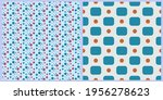 set of vector seamless patterns.... | Shutterstock .eps vector #1956278623
