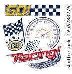 boys racing graphic tees vector ... | Shutterstock .eps vector #1956283276