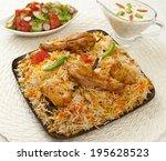 hot   spicy chicken biryani  a...   Shutterstock . vector #195628523