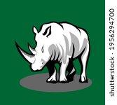 icon animals of rhinos vector... | Shutterstock .eps vector #1956294700