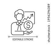 sponsorship broker linear icon. ... | Shutterstock .eps vector #1956296389