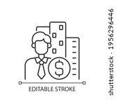 office broker linear icon. rent ... | Shutterstock .eps vector #1956296446