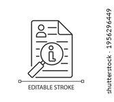 information broker linear icon. ... | Shutterstock .eps vector #1956296449