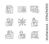 financial advisor linear icons... | Shutterstock .eps vector #1956296503