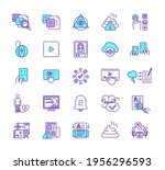 new media rgb color icons set.... | Shutterstock .eps vector #1956296593