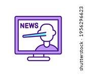 news propaganda rgb color icon. ... | Shutterstock .eps vector #1956296623