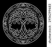 yggdrasil tree of life celtic...   Shutterstock .eps vector #1956299683