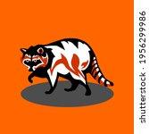 vector illustration of raccon... | Shutterstock .eps vector #1956299986