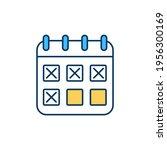 schedule creation for tasks rgb ... | Shutterstock .eps vector #1956300169