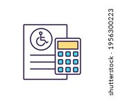disability insurance cost rgb... | Shutterstock .eps vector #1956300223