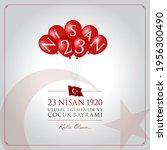 23 Nisan Cocuk Bayrami Vector...