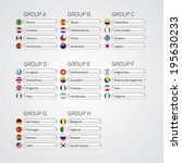 soccer group stages poster... | Shutterstock .eps vector #195630233