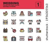 icon set wedding made with...
