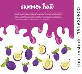 summer fruit | Shutterstock .eps vector #195630800