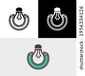 pencil creative bulb draw... | Shutterstock .eps vector #1956334126