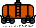 oil railway tank icon. editable ... | Shutterstock .eps vector #1956339466