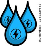 hydro energy drops icon.... | Shutterstock .eps vector #1956339553