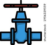 pipe valve icon. editable bold... | Shutterstock .eps vector #1956339559