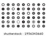 gear icon set. vector... | Shutterstock .eps vector #1956343660