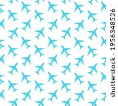 blue plane seamless pattern in... | Shutterstock .eps vector #1956348526