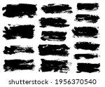 brush strokes bundle. vector... | Shutterstock .eps vector #1956370540