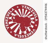 venezuela stamp. travel red... | Shutterstock .eps vector #1956374446