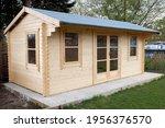 Pine Log Cabin Or Wooden Summer ...