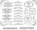 decorative swirls or scrolls ... | Shutterstock .eps vector #1956379393