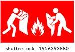 fire blanket symbol sign ...   Shutterstock .eps vector #1956393880