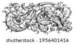 vintage baroque floral frame... | Shutterstock .eps vector #1956401416