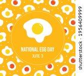 national egg day greeting card  ... | Shutterstock .eps vector #1956409999