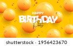 happy birthday greeting banner...   Shutterstock .eps vector #1956423670