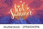 hot summer banner. trendy...   Shutterstock .eps vector #1956434596