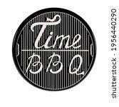 time bbq poster vector stock... | Shutterstock .eps vector #1956440290