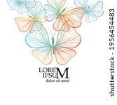 colorful graceful butterflies... | Shutterstock .eps vector #1956454483