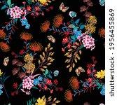 elegant blooming garden floral... | Shutterstock .eps vector #1956455869