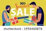 summer sale people banner on...   Shutterstock .eps vector #1956460876