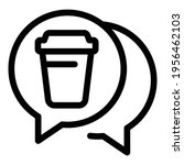 trash chat icon. outline trash... | Shutterstock .eps vector #1956462103