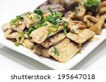 stewed tofu a popular chinese... | Shutterstock . vector #195647018