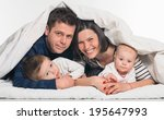 happy family  mother  father... | Shutterstock . vector #195647993