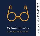 circular eyeglasses inside a...