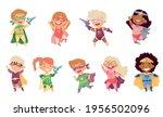 kids wearing costumes of... | Shutterstock .eps vector #1956502096