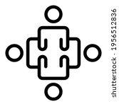organized crew icon. outline...   Shutterstock .eps vector #1956512836