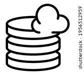 server cloud icon. outline... | Shutterstock .eps vector #1956512959