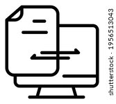 document backup icon. outline... | Shutterstock .eps vector #1956513043